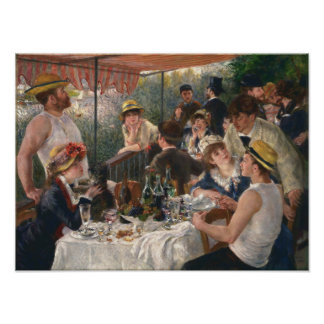 Luncheon Of The Boating Party Poster
