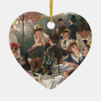 Luncheon of the Boating Party - Renoir Ceramic Ornament