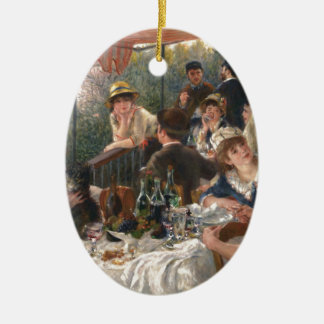 Luncheon of the Boating Party - Renoir Ceramic Oval Decoration