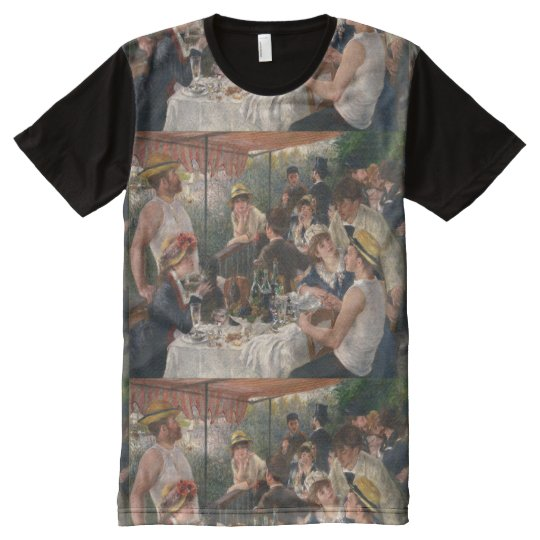 Luncheon of the Boating Party Vintage - Renoir All-Over Print T-Shirt