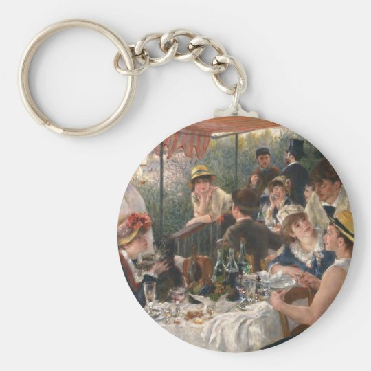 Luncheon of the Boating Party Vintage - Renoir Basic Round Button Key Ring