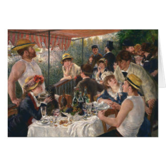 Luncheon of the Boating Party Vintage - Renoir Card