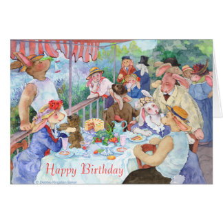 Luncheon of the Bunny Party Card
