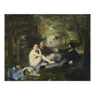 Luncheon on the Grass by Edouard Manet Photo Art
