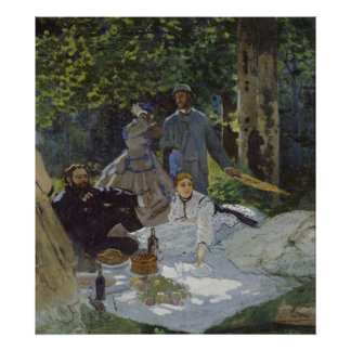 Luncheon on the Grass, Central panel (1865) Poster