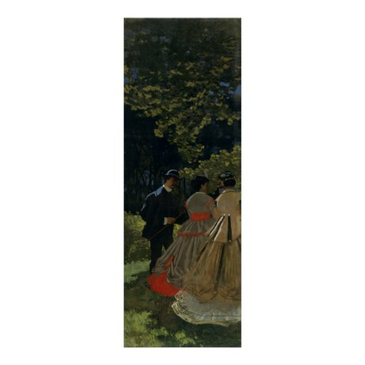 Luncheon on the Grass, Left Panel (1865) Canvas Poster