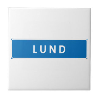 Lund, Swedish road sign Tiles