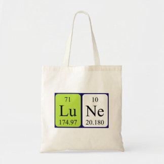 Lune periodic table name tote bag