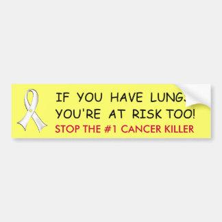 Lung Cancer Awareness Bumper Sticker