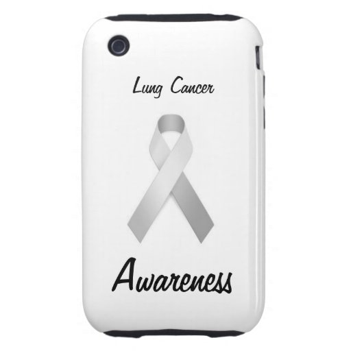 Lung Cancer Awareness Iphone 3/3gs case Tough iPhone 3 Covers