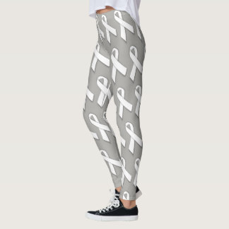 Lung Cancer Awareness Leggings