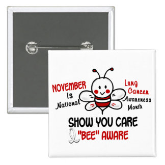 Lung Cancer Awareness Month Bee 1 2 Buttons
