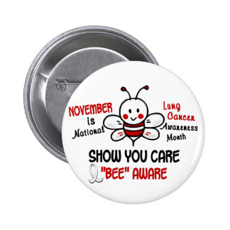Lung Cancer Awareness Month Bee 1 2 Pins