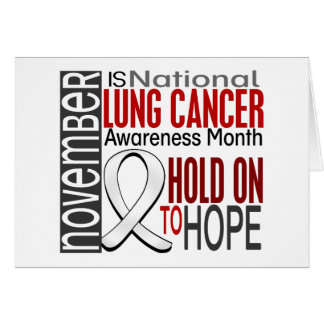 Lung Cancer Awareness Month Ribbon I2.4 Card