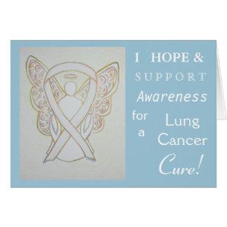 Lung Cancer Awareness Ribbon Greeting Card