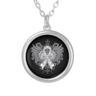 Lung Cancer Cool Wings Pendant