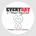Lung Cancer Every Day I Miss My Dad Round Sticker