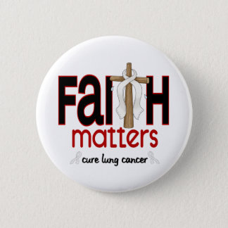 Lung Cancer Faith Matters Cross 1 6 Cm Round Badge