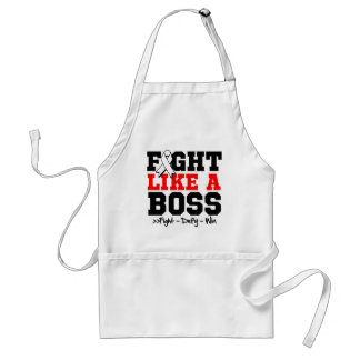 Lung Cancer Fight Like a Boss Adult Apron