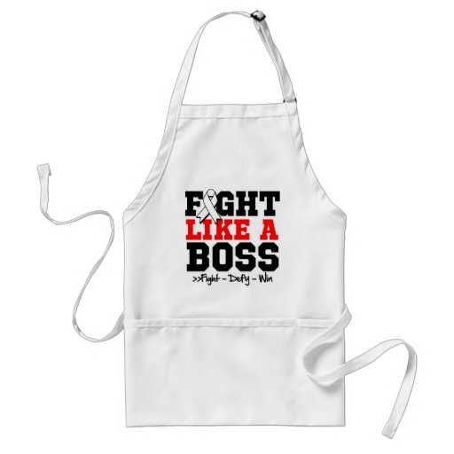 Lung Cancer Fight Like a Boss Aprons
