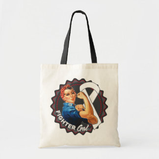 Lung Cancer Fighter Gal Budget Tote Bag