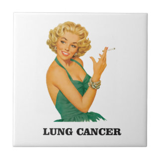 lung cancer girl small square tile