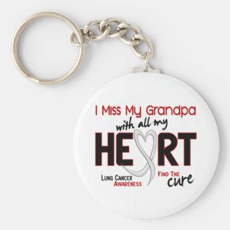 Lung Cancer I Miss My Grandpa Key Ring