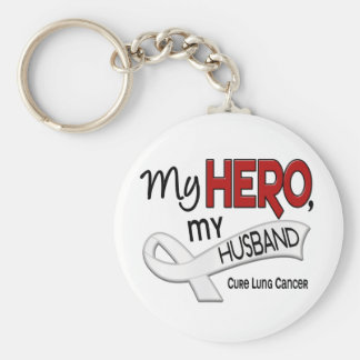 Lung Cancer MY HERO MY HUSBAND 42 Key Ring
