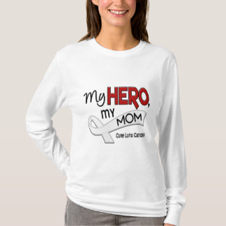 Lung Cancer MY HERO MY MOM 42 T-Shirt