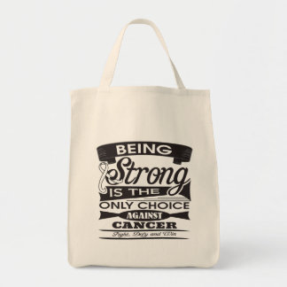 Lung Cancer Strong is The Only Choice Bags