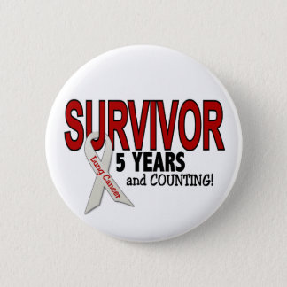 Lung Cancer Survivor 5 Years 6 Cm Round Badge