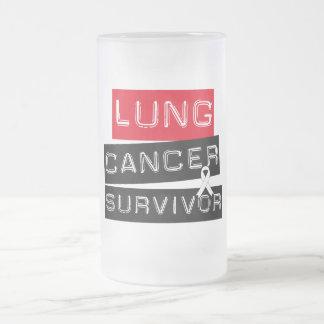 Lung Cancer Survivor Frosted Glass Mug