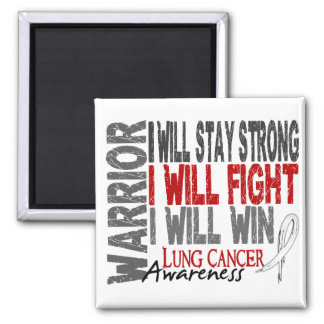 Lung Cancer Warrior Square Magnet