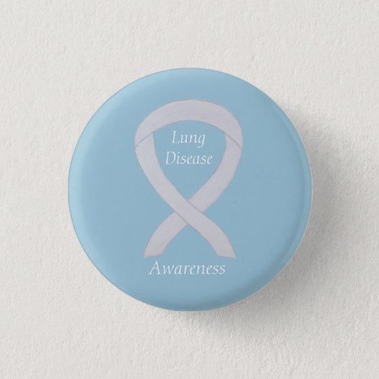 Lung Disease Awareness Pearl Ribbon Art Pin
