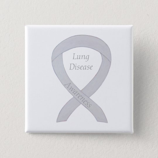 Lung Disease Awareness Pearl Ribbon Art Pin