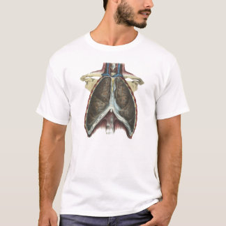 Lungs Chest Cavity Anatomy Illustration T-Shirt