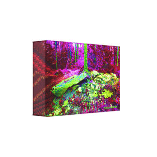 Lungs CUBE (Magenta) Canvas Print