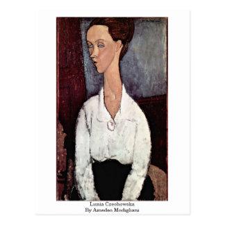 Lunia Czechowska By Amedeo Modigliani Postcard