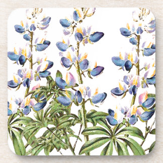 Lupin Floral Flowers Botanical Cork Coaster