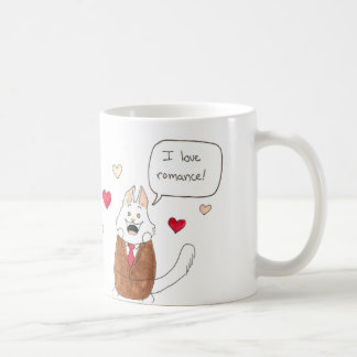 Lupin loves romance! basic white mug