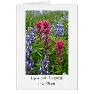 Lupine and Paintbrush Greeting Card