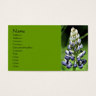 Lupine Flower Nature Business Card