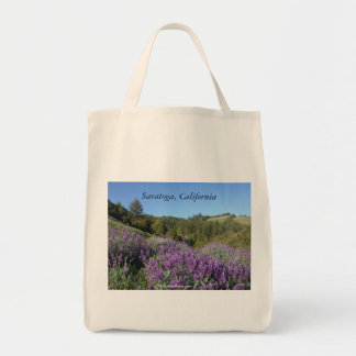 Lupine Meadow Saratoga California Tote Bag