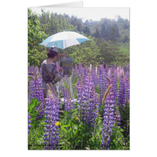 Lupine Painter 5x7 Card