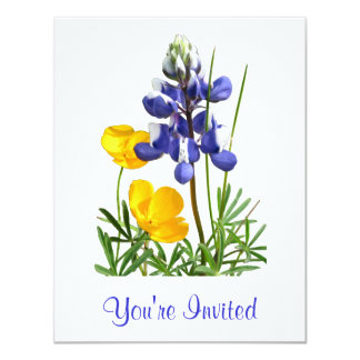 Lupine Poppies Invitation