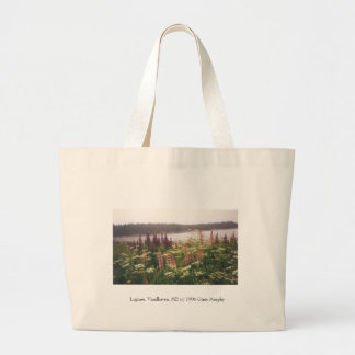 """Lupines, Vinalhaven, Maine, 1996"" Large Tote Bag"