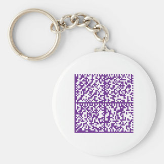 Lupus Awareness Bar Codes for Mobile Phones Basic Round Button Key Ring