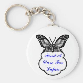 Lupus Awareness Basic Round Button Key Ring