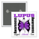 Lupus Awareness Butterfly 15 Cm Square Badge