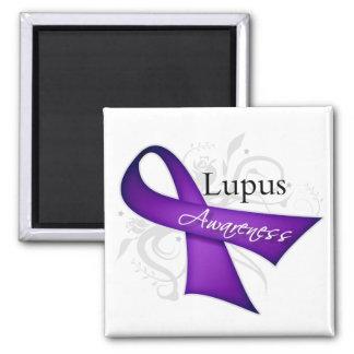 Lupus Awareness Ribbon Square Magnet